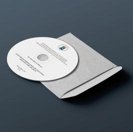 Adesivo Bolacha para CD Papel Adesivo 11,5x11,5 Colorido  Corte Especial
