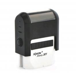 Carimbo  Automático 301 - Pequeno  Área útil: 1 x 2,7 cm