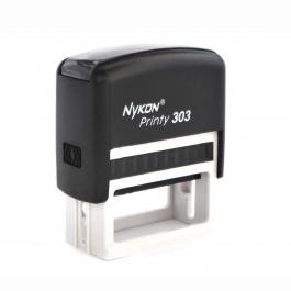 Carimbo  Automático 303 - Médio  Área útil: 1,8 x 4,7 cm
