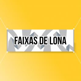 Faixas de Lona Lona Brilho 440g/m²  Colorido  Bastão e Barbante ou Ilhós