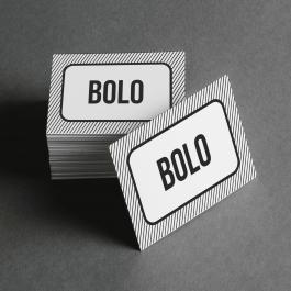 Ficha de Bolo Cartolina 6x4cm Preto e Branco  Corte Reto e Cola Lateral