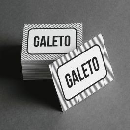 Ficha de Galeto Cartolina 6x4cm Preto e Branco  Corte Reto e Cola Lateral