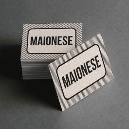 Ficha de Maionese Cartolina 6x4cm Preto e Branco  Corte Reto e Cola Lateral