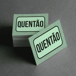 Ficha de Quentão Cartolina 6x4cm Preto e Branco  Corte Reto e Cola Lateral