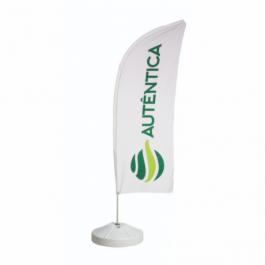 Wind Banner Completo - Modelo Faca Poliéster 700x2200mm - Tamanho do tecido 4x4 - Colorido