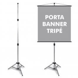 Porta Banner Tripé Alumínio 170cm