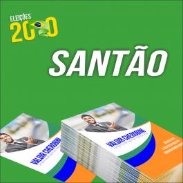 Santão Papel couchê 115g 10 x 14 cm    4x4