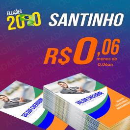 Santinho Papel couchê 115g 10 x 7 cm 4x4