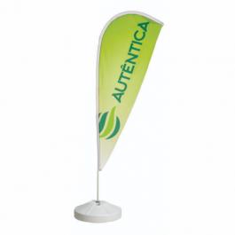Wind Banner Completo - Modelo Gota Poliéster 700x2200mm - Tamanho do tecido 4x4 - Colorido