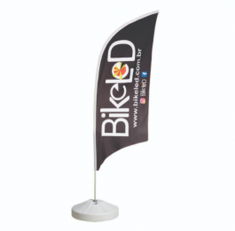 Wind Banner Completo - Modelo Vela Poliéster 700x2200mm - Tamanho do tecido 4x4 - Colorido